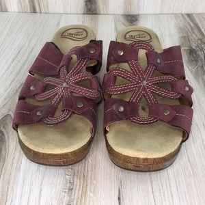 Dansko Serena Maroon Sandals